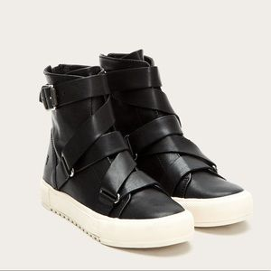Frye black Gia Moro High top leather shoes